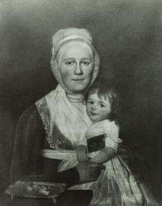 Portret van Clasina Catharina van Schaardenburgh (1767-1844) en Anna van Baalen (1796-1821)