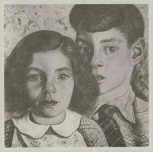 Portret van Joost van Cleeff (1929-) en Dori Johanna van Cleeff (1930-)