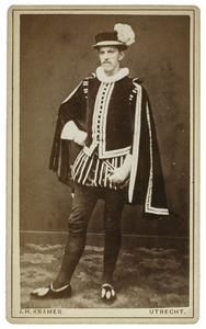 Portret van Leonard Eliza van Petersom Ramring (1860-1933) als Roeland de Weert