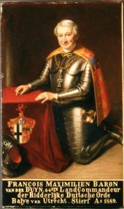 Portret van François Maximiliaan baron van der Duyn, heer van Maasdam
