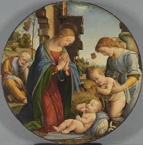 Heilige familie met kind Johannes