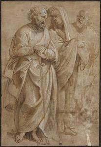 De apostel Paulus met twee heiligen