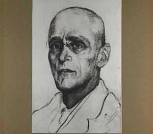 Portret van de schrijver Herman Gorter