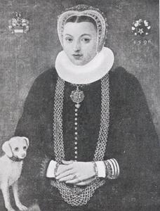 Portret van Margrete Krabbe, echtgenote van Ditlev Holk