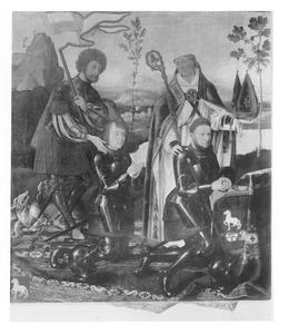 De HH. Joris en Nicasius met Georg en Nicasius Hackeney