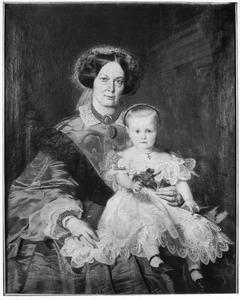 Portret van Josephine Françoise Charlotte de Ricce (1802-1875) en Carla Josephine Hermine Eleonore Arnailie von Hompesch Rurich (1861-?)