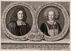 Dubbelportret van Jakob von Sandrart (1630-1708) en Regina Christina Eimmart (1636-1708)