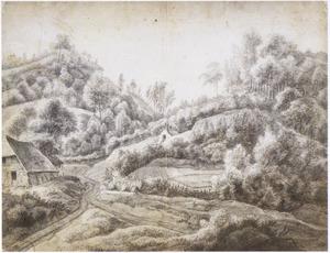 Boomrijk heuvellandschap met boerderij in de buurt van Nijmegen