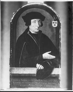 Portret van Peter Veenlant, burgemeester van Schiedam