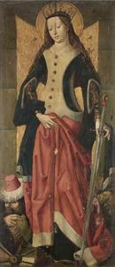 De Heilige Catharina van Alexandrië (op de voorzijde de HH: Anna en Joachim)