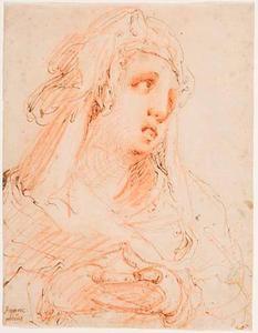 Studie van borstbeeld van een vrouw (Maria Magdalena?)
