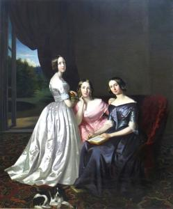 Portret van Henriette Maria Jacoba Voombergh (1830-1908), Aletta Cornelia Anna Voombergh (1828-1913) en Philippina Constantia Isabella Voombergh (1827-1905)