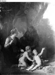 Heilige familie met Elisabeth en de Hl. Johannes
