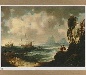 Hollandse schepen naderen de Zuid-Amerikaanse kust