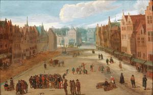 Zicht op de Meir in Antwerpen