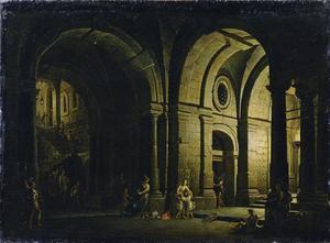 Julius Sabinus neemt in de kerker afscheid van zijn familie