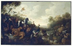 Landscpa met Orpheus en de dieren