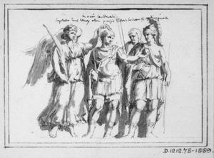 Allegorische bekroning van een Romeins legeraanvoerder
