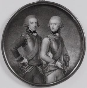 Dubbelportret van prins Willem I van Oranje- Nassau (1772-1843)  en Ludwig Ferdinand van Pruisen (1772-1806)