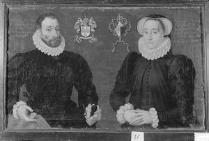 Dubbelportret van Jan ('Jehan') Wijts (1528-1582) en Marguerite van Lichtervelde (?-1591)
