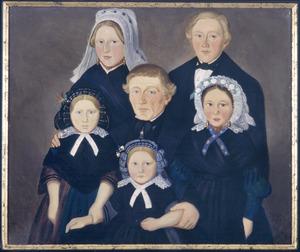 Portret van Johannes Franciscus van Esbroeck (1813-1872) en zijn kinderen