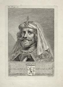 Portret van Willem I van Holland (1165-1222)