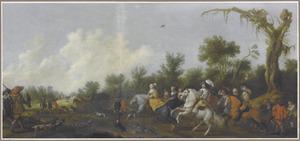 Frederik en Elisabeth van Bohemen op jacht
