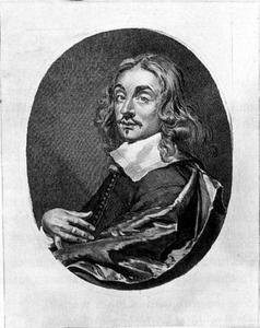 Portret van een man, genaamd Cornelis Visscher II (....-1658)
