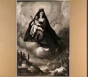 Allegorische voorstelling met Maria met kind