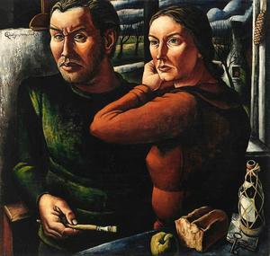 Zelfportret van de kunstneaar met zijn vrouw
