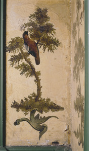 Struik met vogel