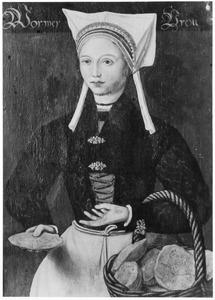 Vrouw uit Wormer in streekkostuum