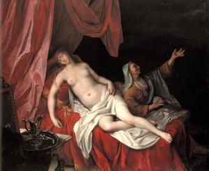 Danaë ontvangt Jupiter in de gedaante van een regen van goud
