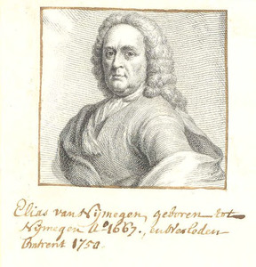 Portret van Elias van Nijmegen (1667-1755)