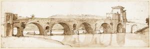 De Ponte Milvio (Ponte Molle) bij Rome