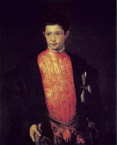 Portret van Ranuccio (I) Farnese (1530-1565) als twaalfjarige ridder in de Orde van Malta