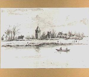 Gezicht op Nederasselt, gezien vanaf de Maas