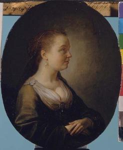 Portret van een vrouw en-profil