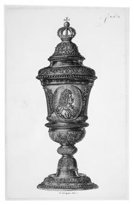 Gouden bokaal, in 1702 aan Bertout van Slingelandt geschonken door koning Frederik I van Pruisen (1657-1713)