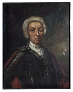 Portret van een man, mogelijk Adam Alexander van Schellaert van Obbendorf, des H.R. Rijksgraaf van Schellard (1730-1804)