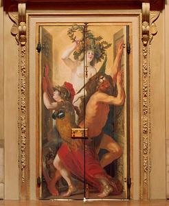 Minerva en Hercules openen de deuren voor Overwinning