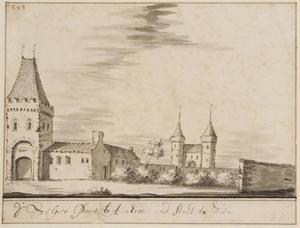 De Velperpoort te Arnhem gezien vanuit de stad
