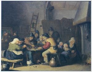 Boeren in een herberg; de Magere Keuken