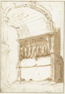 Reliëf aan de binnenzijde van de boog van Titus in Rome
