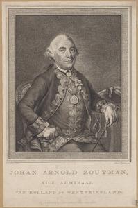 Portret van Johan Arnold Zoutman (1724-1793)