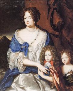 Prinses van Ahlden, Sophie Dorothea van Brunswick-Lüneburg, echtgenoot van George I Groot-Brittannië, met haar kinderen (1666-1726)