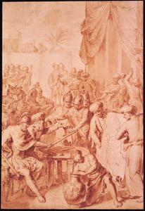 Jozua verdeelt te Silo het Heilige Land (Jozua 18:110)