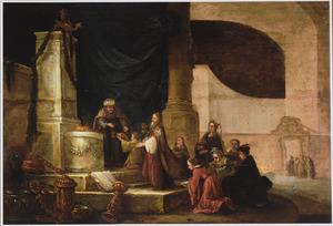 De Israëlieten brengen hun kostbaarheden naar Mozes om het tabernakel te kunnen bouwen (Exodus 35:22)