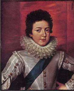 Portret van koning Lodewijk XIII van Frankrijk (1601-1643)