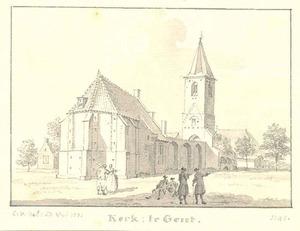 Hervormde kerk in Gendt vanuit het noordoosten